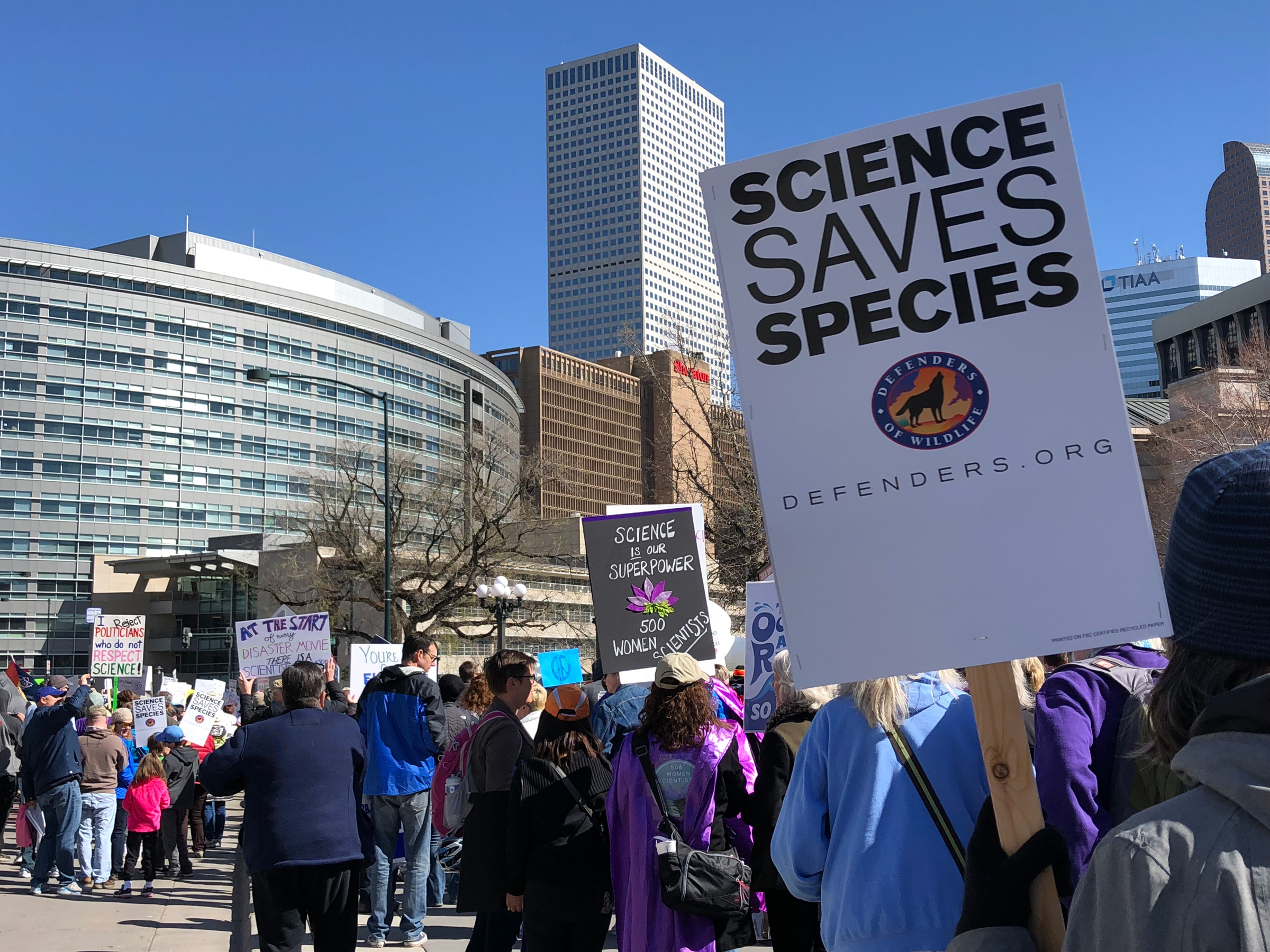 Denver March for Science Activists Rally