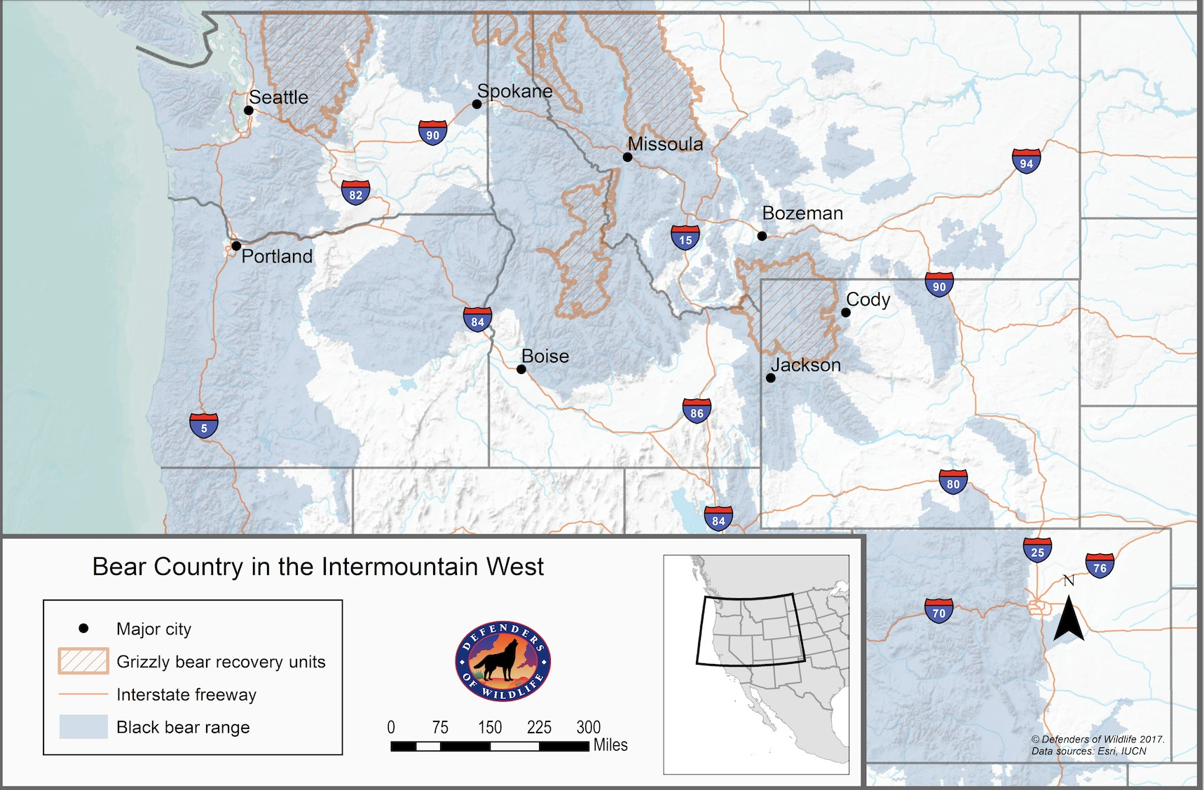 Bear country in the intermountain west