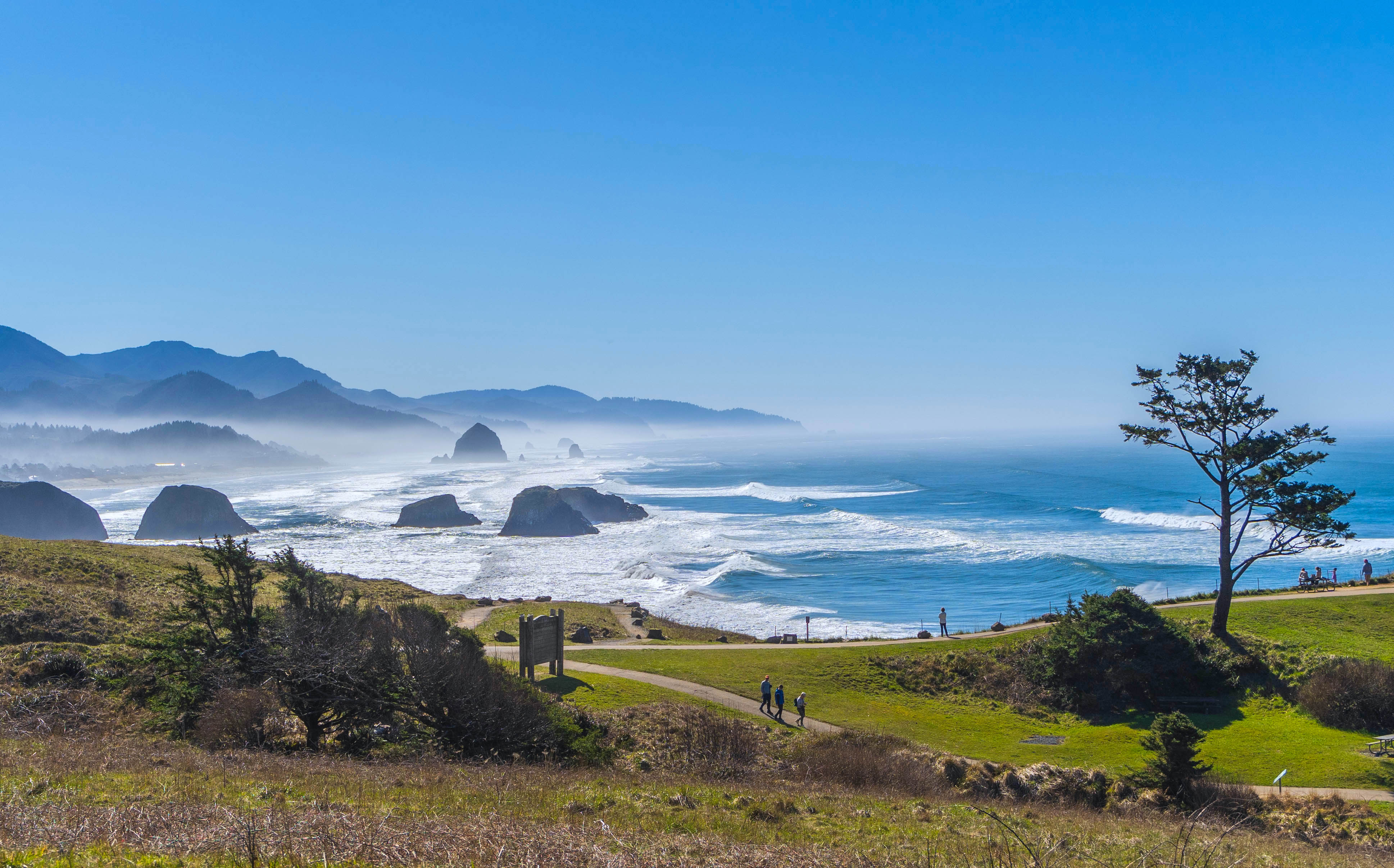 Oregon coast as seen from Ecola State Park
