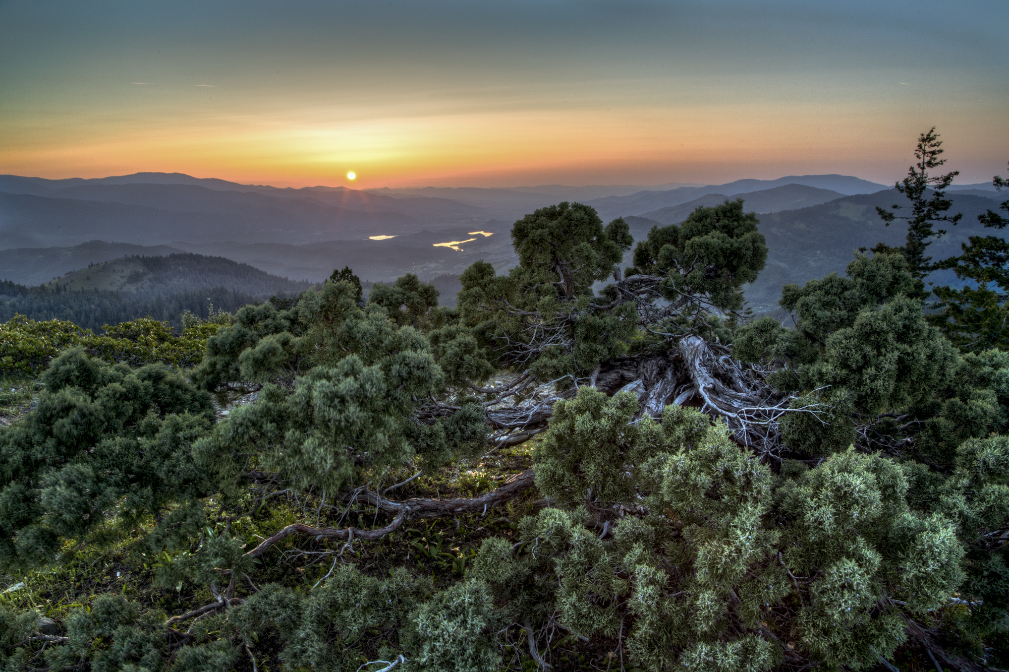 Views from Cascade-Siskiyou National Monument at sunset