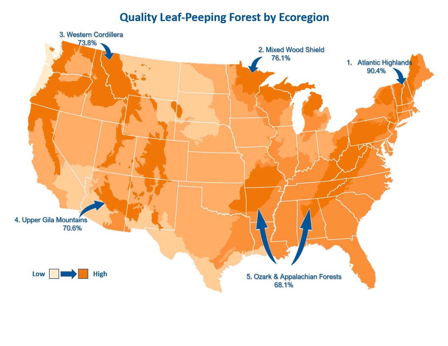 Map of quality leaf-peeping regions
