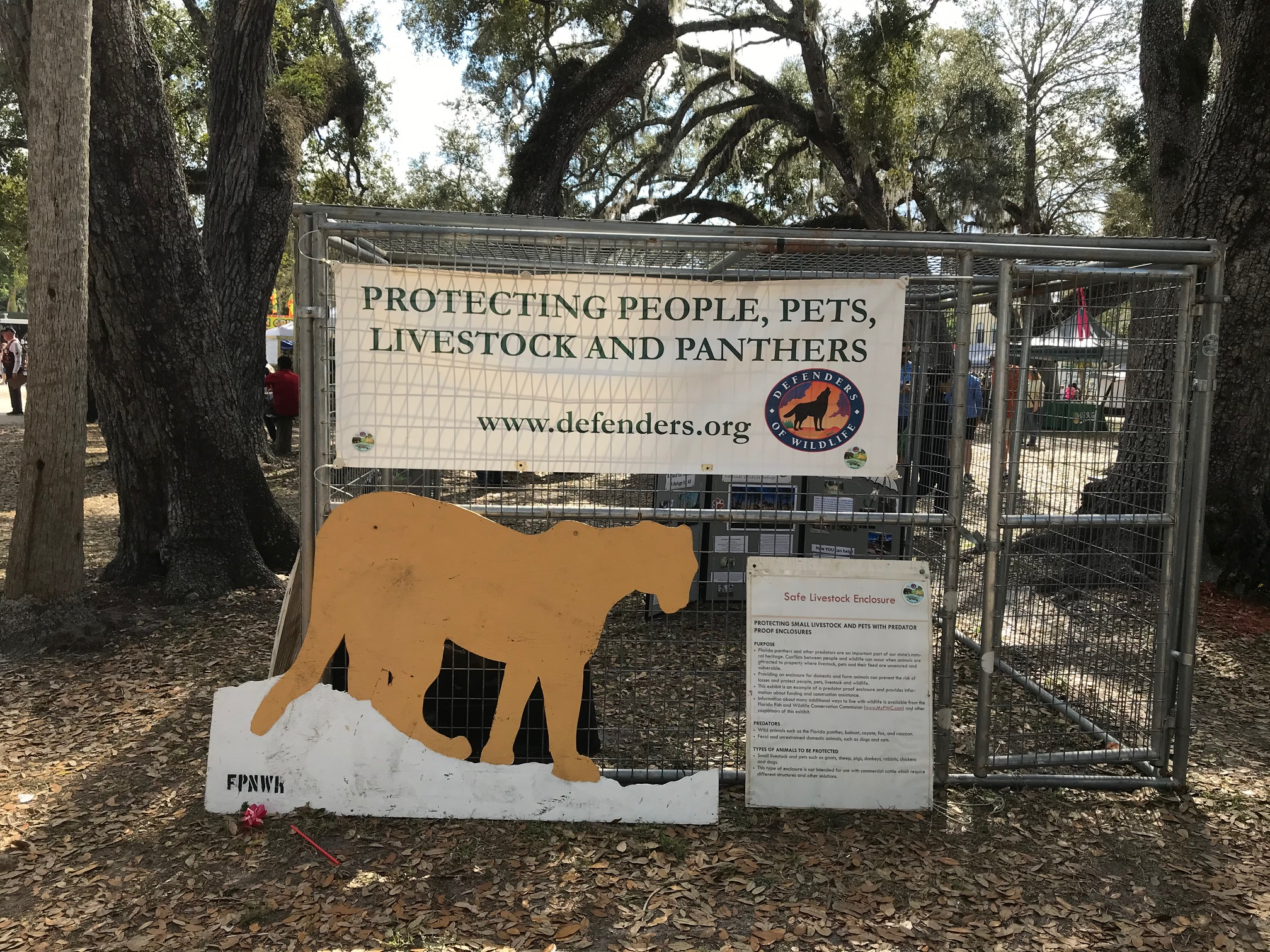 Panther Enclosure at the Swamp Cabbage Festival in LaBelle, Florida