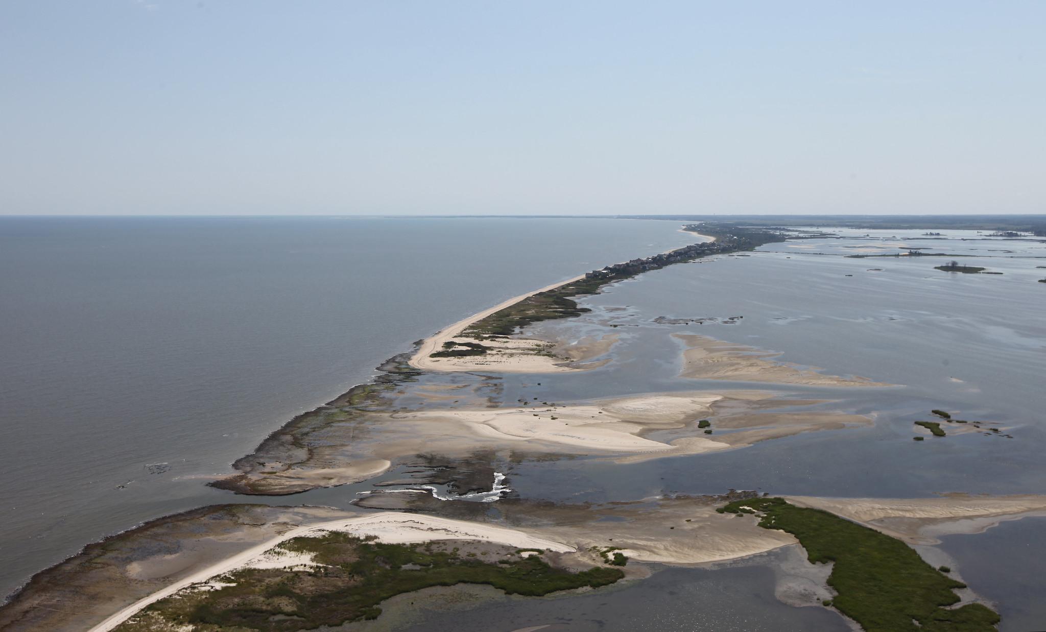 Breach at Prime Hook National Wildlife Refuge (DE) after Hurricane Sandy