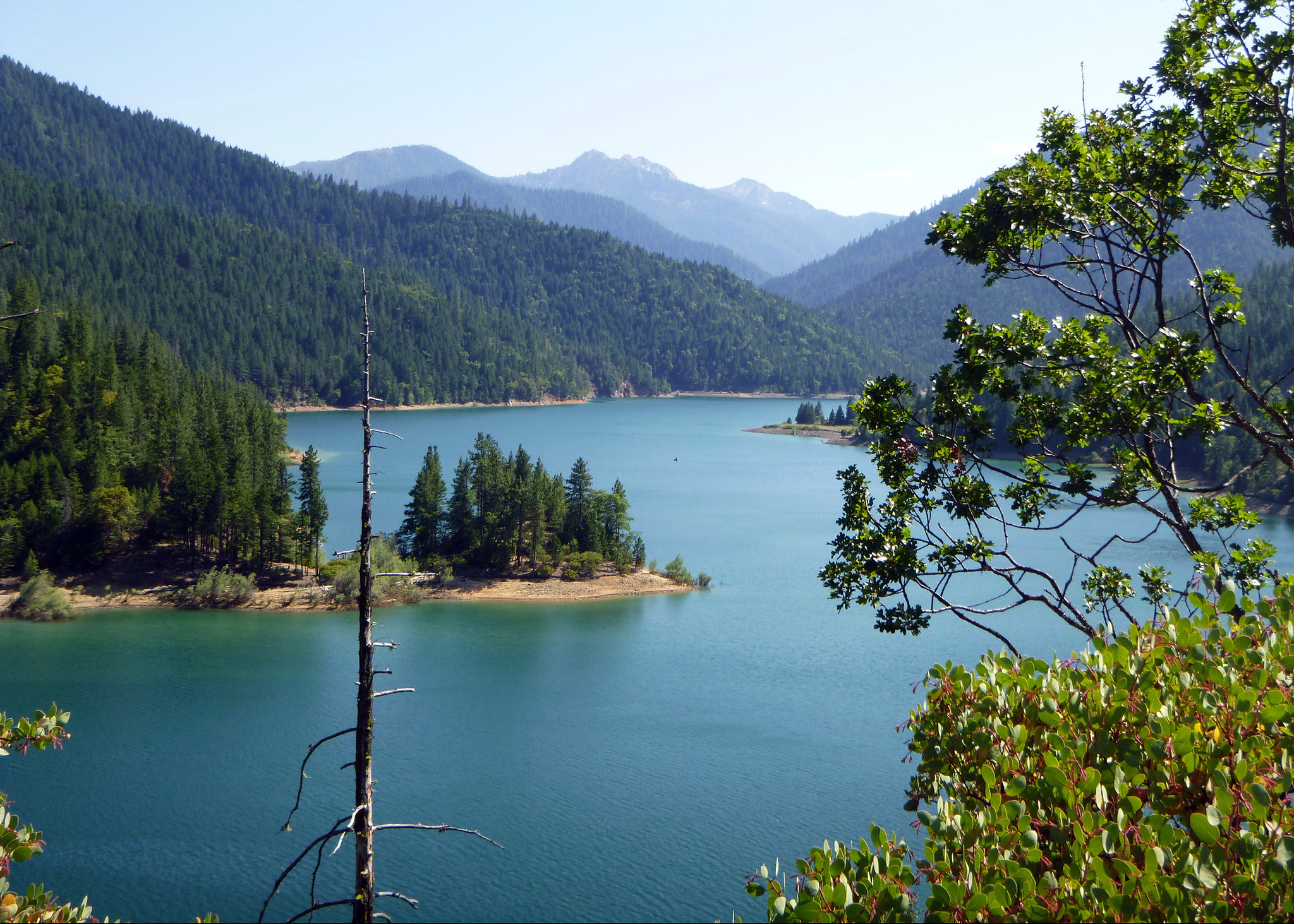 Applegate Reservoir in the Siskiyou Mountains within the Rogue River-Siskiyou National Forest