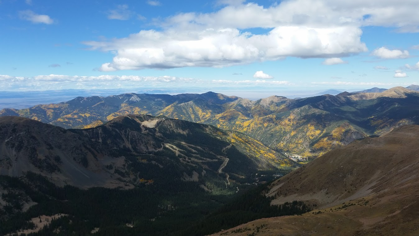 Wheeler Peak with fall colors in the Carson NF