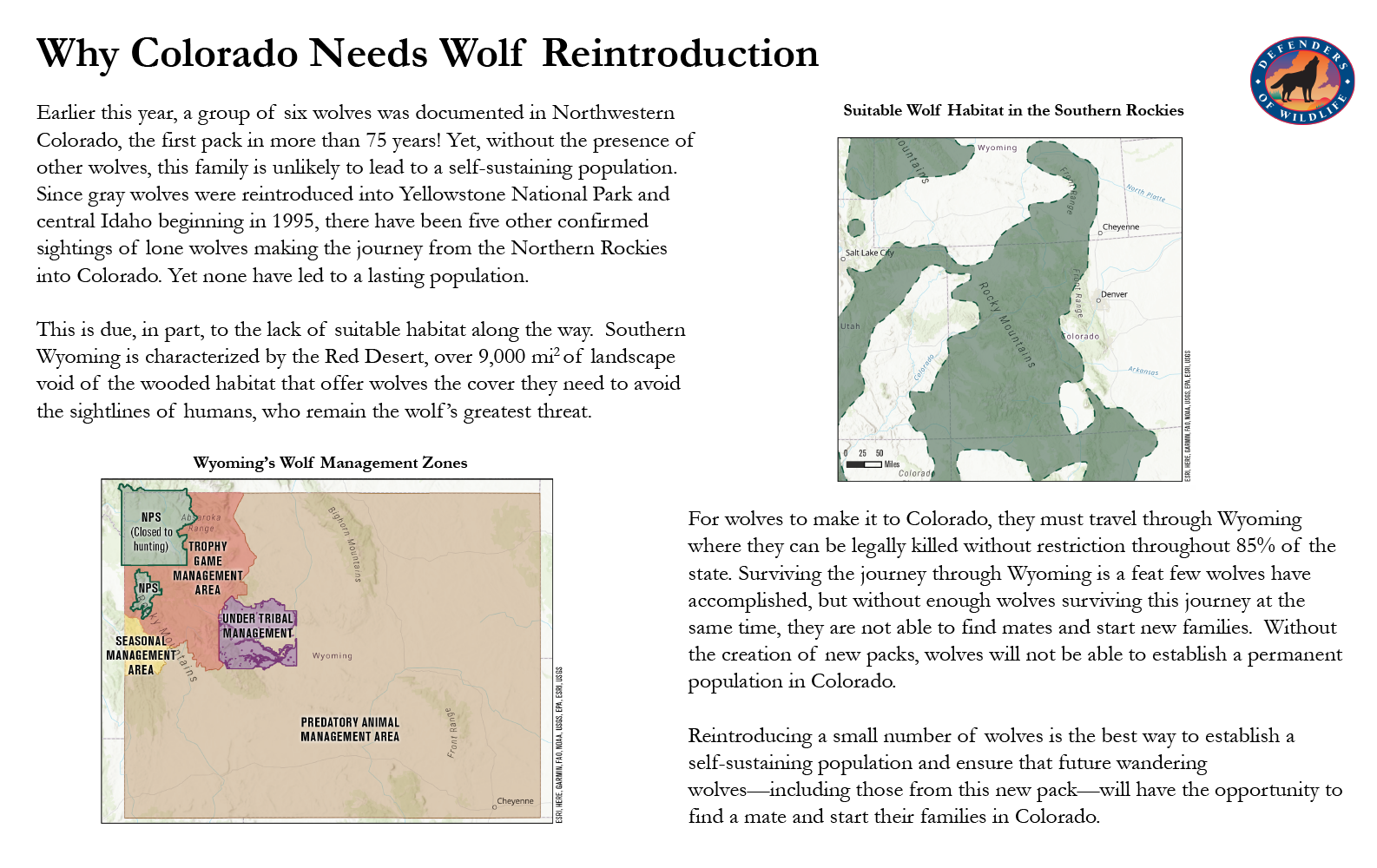 Why colorado needs wolf reintroduction with maps