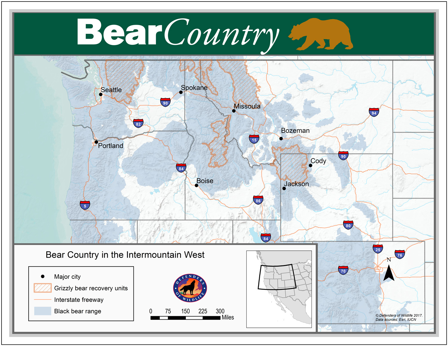 Bear Country Map
