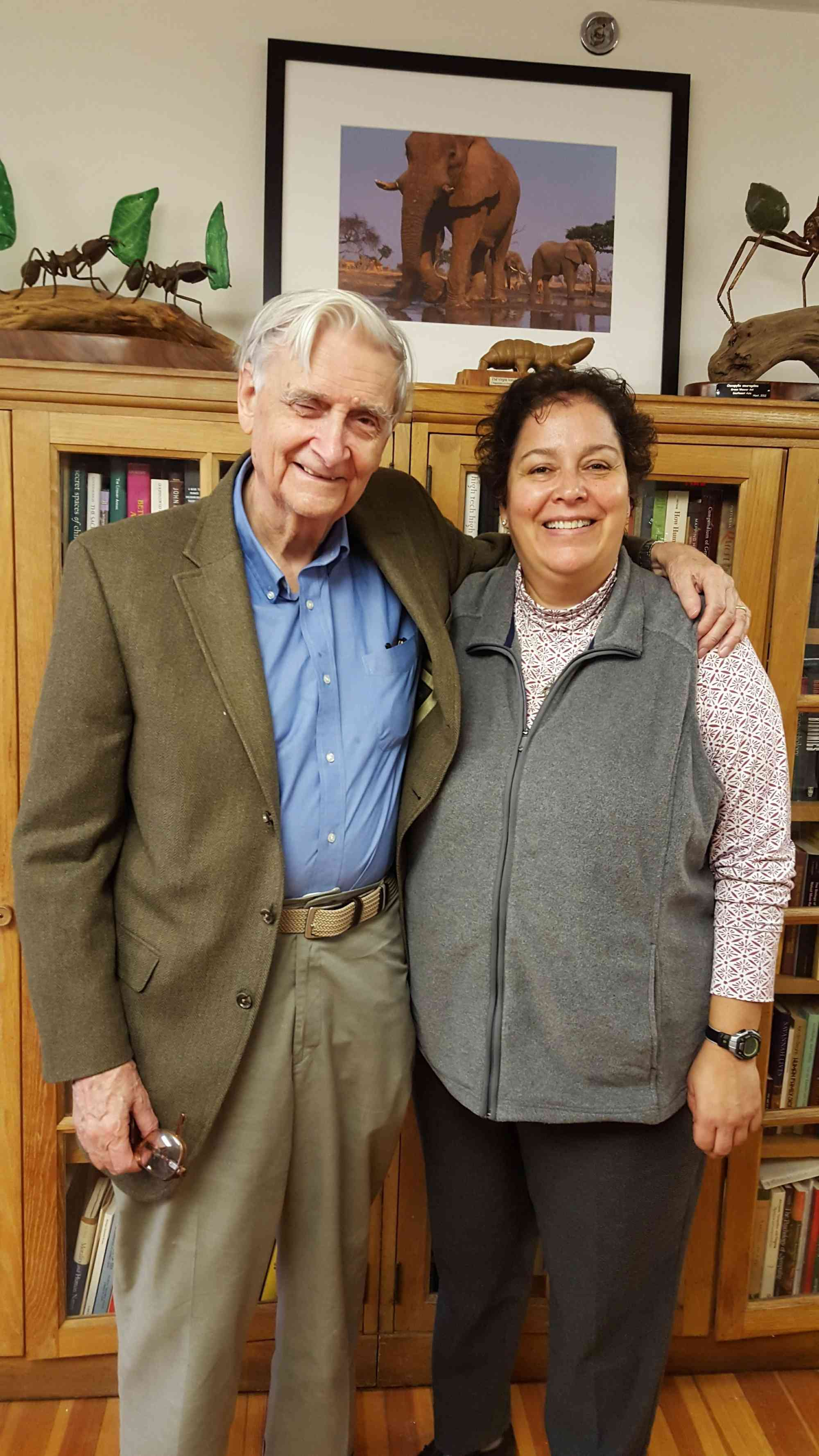 Gaby Chavarria and EO Wilson
