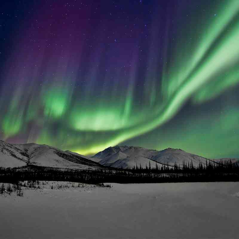 Northern Lights Over Brooks Range Alaska
