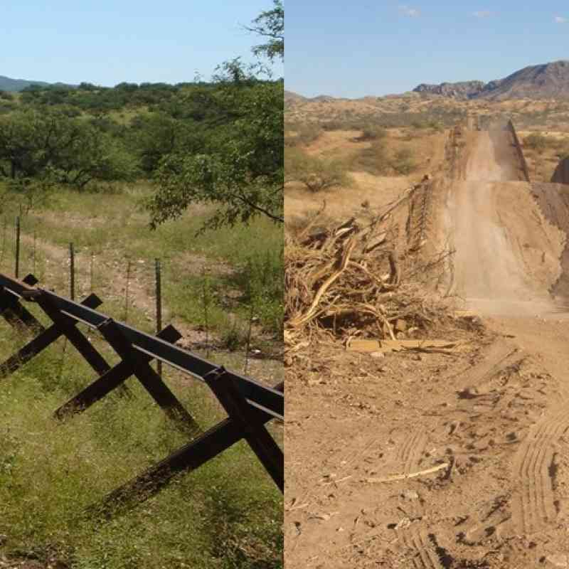 Border wall comparison Matt Clark/Defenders