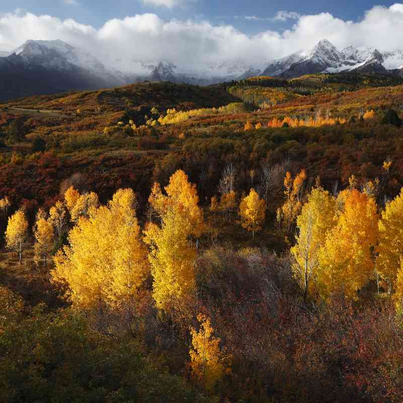 Fall Sunnrise, Sneffels Range of the San Juan Mountains, Colorado