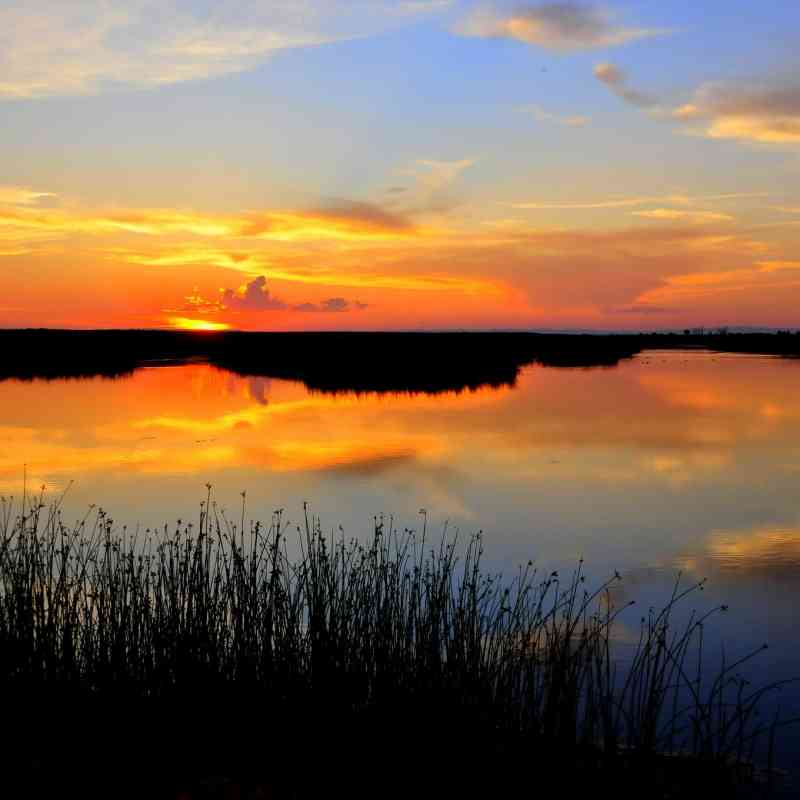 Seedskadee National Wildlife Refuge Hawley Unit at Sunset