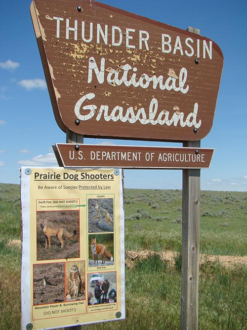 Thunder Basin National Grassland Signage